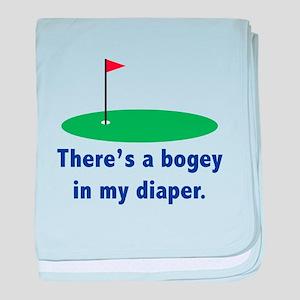 Bogey in my Diaper Infant Blanket