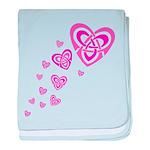 Pink Celtic Hearts Infant Blanket