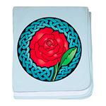 Celtic Rose Stained Glass Infant Blanket