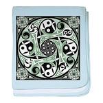 Celtic Spiral Stepping Stone Infant Blanket