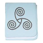 Celtic Triple Spiral Infant Blanket