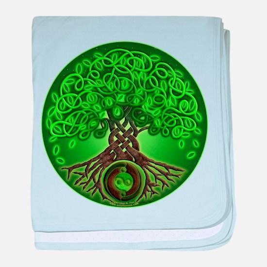 Circle Celtic Tree of Life Infant Blanket