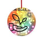 Farm Gals Logo Round Ornament