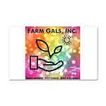Farm Gals Logo Car Magnet 20 x 12
