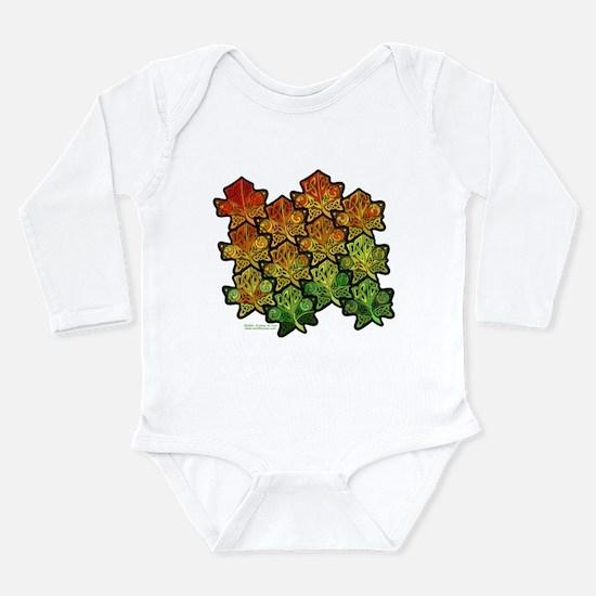 Celtic Leaf Tesselation Long Sleeve Infant Bodysui