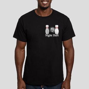 Night Shift Logo 4 Men's Fitted T-Shirt (dark) Des