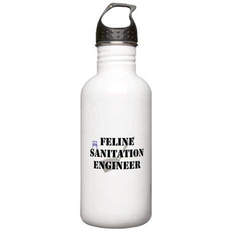 Feline Sanitation Engineer Stainless Water Bottle