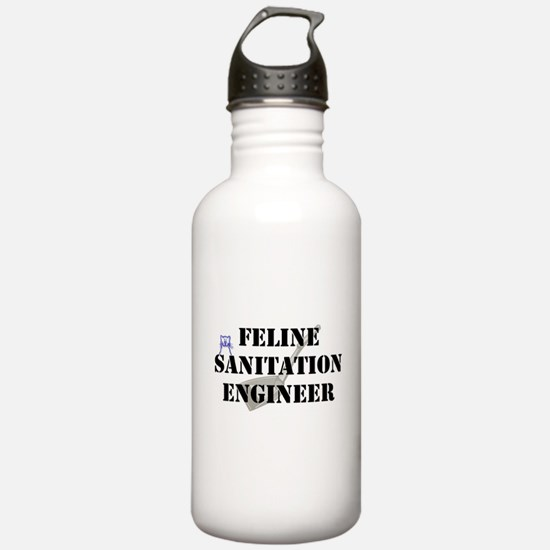Feline Sanitation Engineer Water Bottle