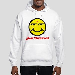 Just Married Male Hooded Sweatshirt