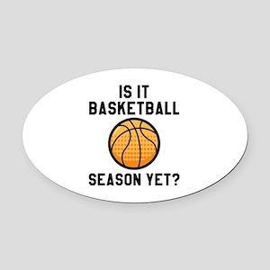 Is It Season Yet? Oval Car Magnet
