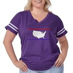 Back to Back Women's Plus Size Football T-Shirt