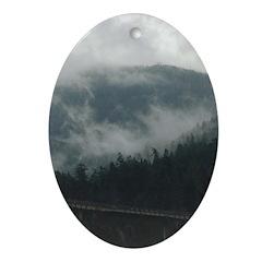 Vancouver North Shore Oval Ornament