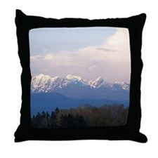 Vancouver Coastal Mountains Throw Pillow