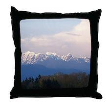 Vancouver Coastal Mountains Throw Pillow