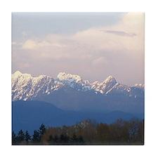 Vancouver Coastal Mountains Tile Coaster