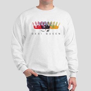 Desi Queen Crowns Sweatshirt