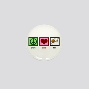 Peace Love Knit Mini Button