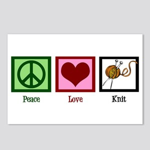 Peace Love Knit Postcards (Package of 8)