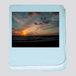 Great Lakes Sunset baby blanket
