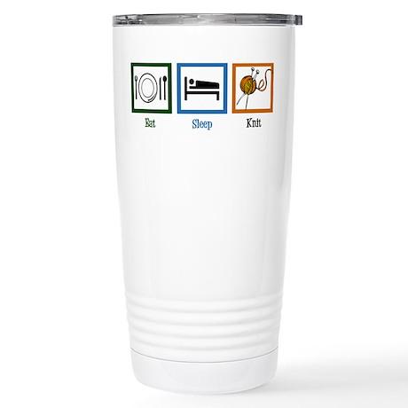 Eat Sleep Knit Stainless Steel Travel Mug