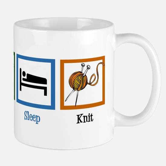 Eat Sleep Knit Mug