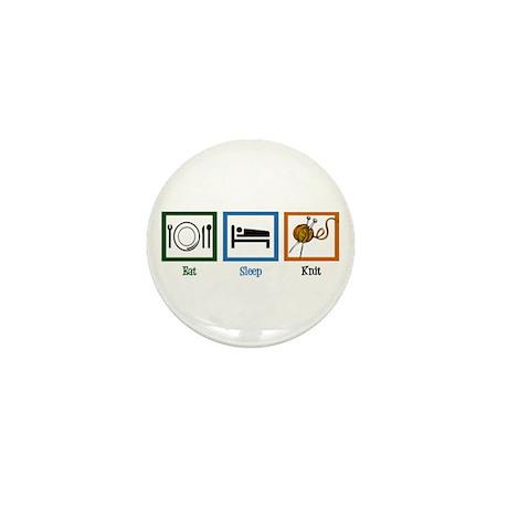 Eat Sleep Knit Mini Button (10 pack)