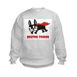 Boston terrier dog boys Crew Neck