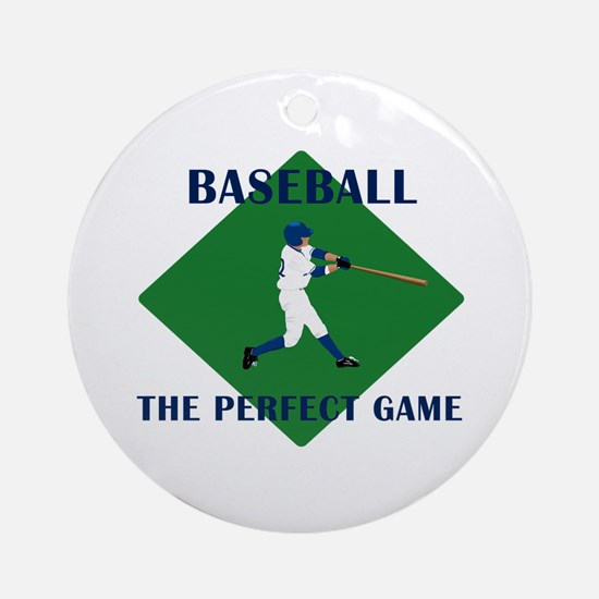 Baseball The Perfect Game Ornament (Round)