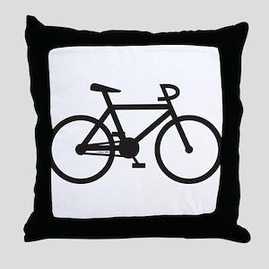 Klaar Bike Throw Pillow