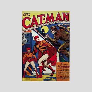 $4.99 Classic Cat-Man Rectangle Magnet