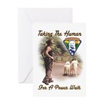 Take The Human For A Walk Greeting Card