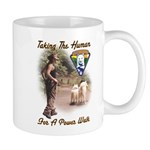 Take The Human For A Walk Mug