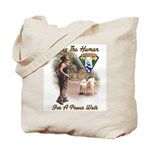 Take The Human For A Walk Tote Bag