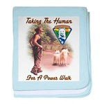 Take The Human For A Walk Infant Blanket