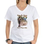 Take The Human For A Walk Women's V-Neck T-Shirt