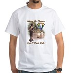 Take The Human For A Walk White T-Shirt