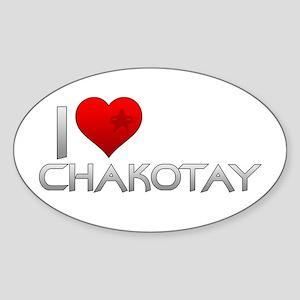 I Heart Chakotay Sticker (Oval)