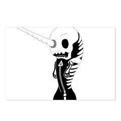 Skeleton Narwhal Postcards (Package of 8)