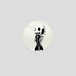 Skeleton Narwhal Mini Button