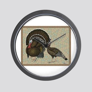 Turkeys Standard Bronze Pair Wall Clock