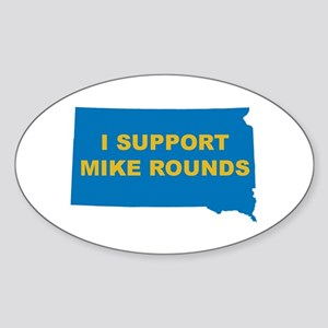 Mike Rounds Oval Sticker