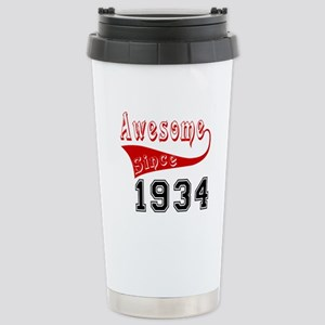 Awesome Since 1934 Birt Stainless Steel Travel Mug