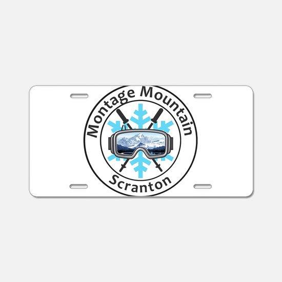 Montage Mountain Ski Resort Aluminum License Plate