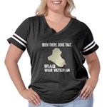 Iraq War Veteran Women's Plus Size Football T-Shir
