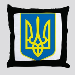 Ukraine Coat of Arms Throw Pillow
