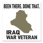 Iraq War Veteran Square Car Magnet 3