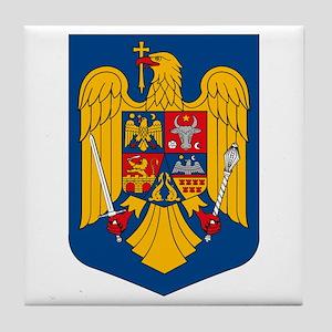 Romania Coat of Arms Tile Coaster