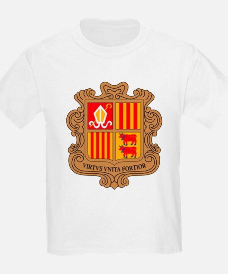 Andorra Coat of Arms Kids T-Shirt