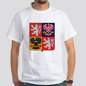 Czech Republic Coat of Arms White T-Shirt