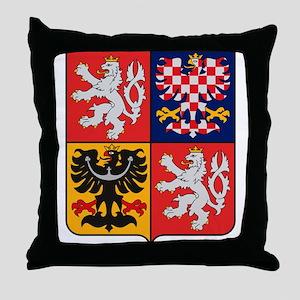 Czech Republic Coat of Arms Throw Pillow